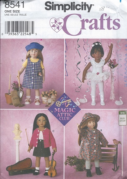 doll clothes bodysuit coat hat shirt sewing pattern