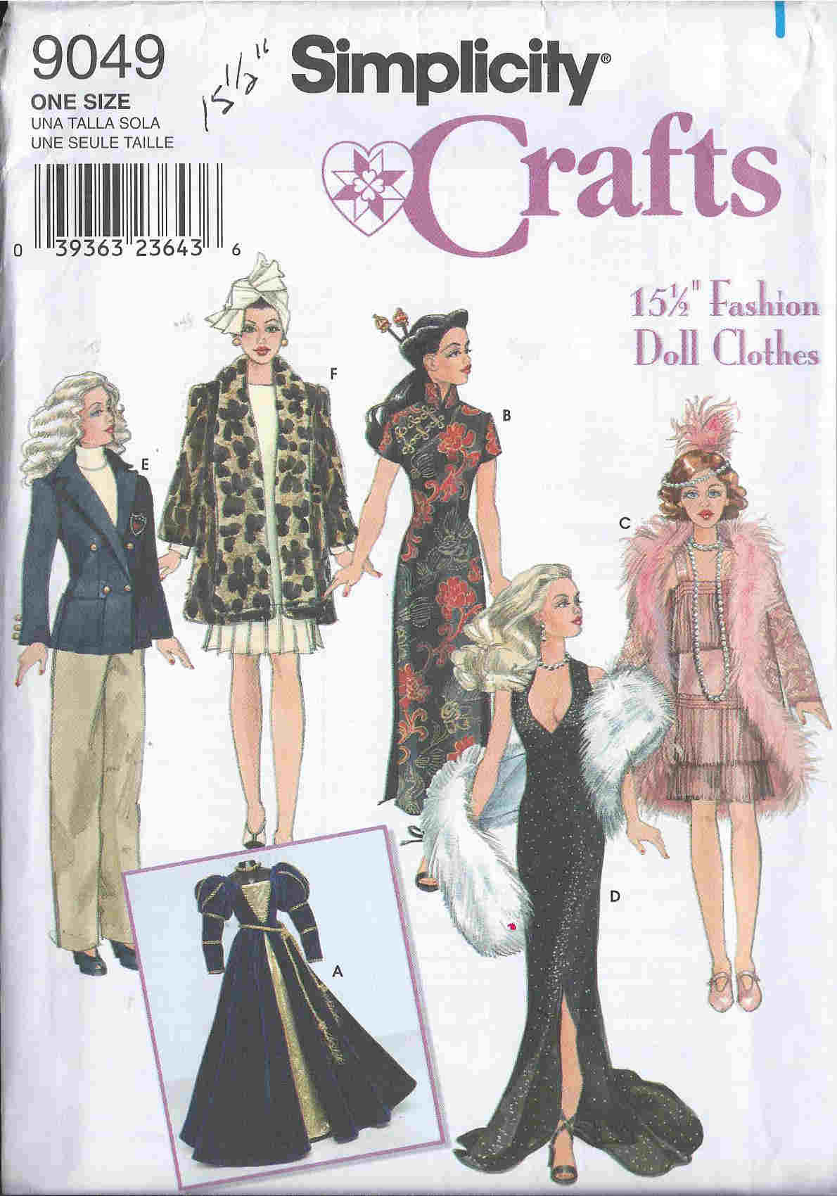 Free Sewing Patterns for Fashion Doll Clothes - The Spruce Crafts 97