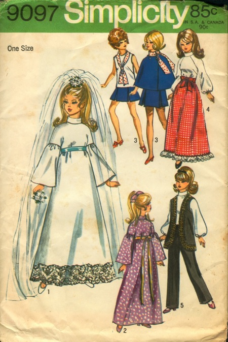 fashion doll wedding gown veil sewing pattern