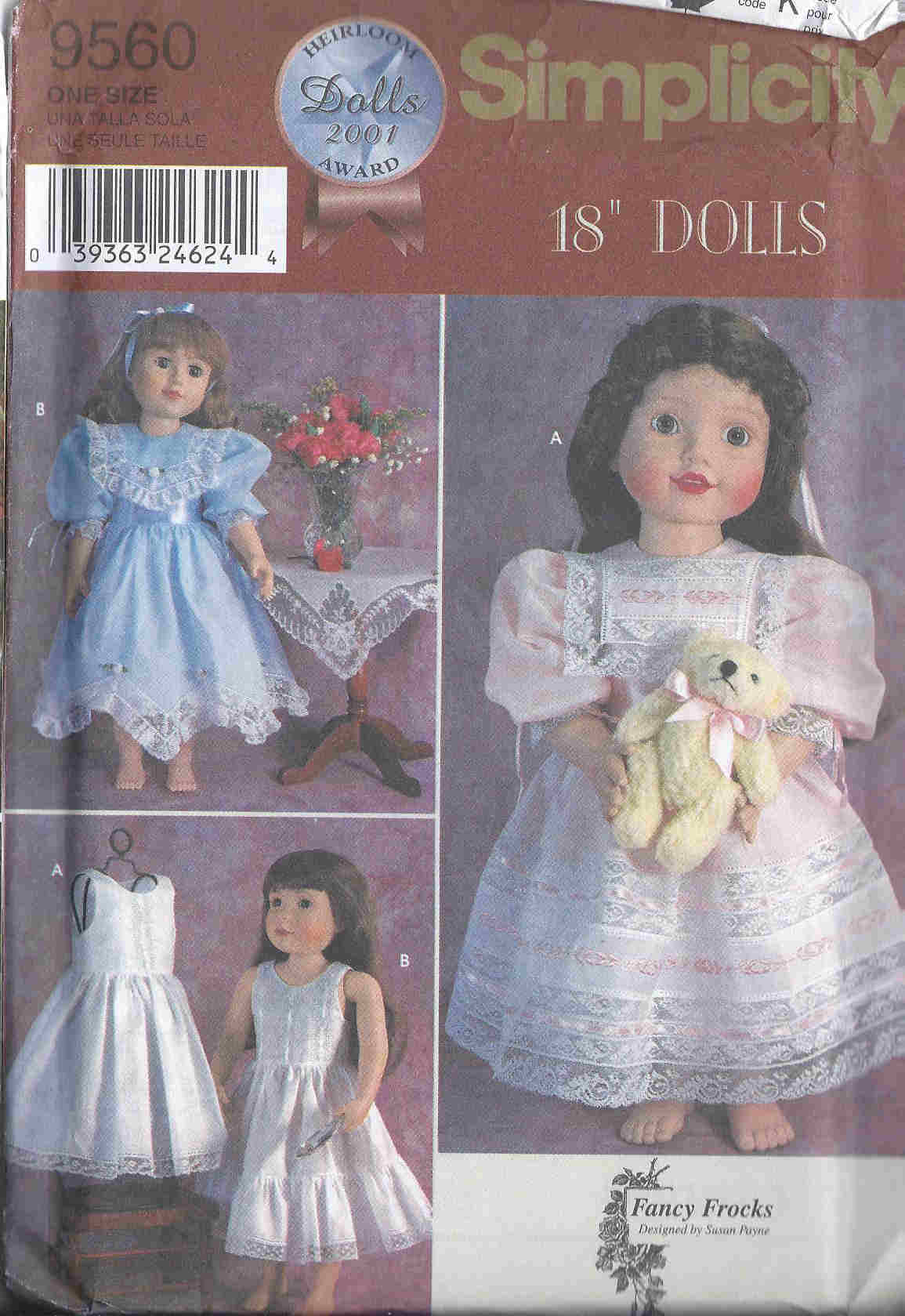 doll clothes dress petticoat frocks sewing pattern