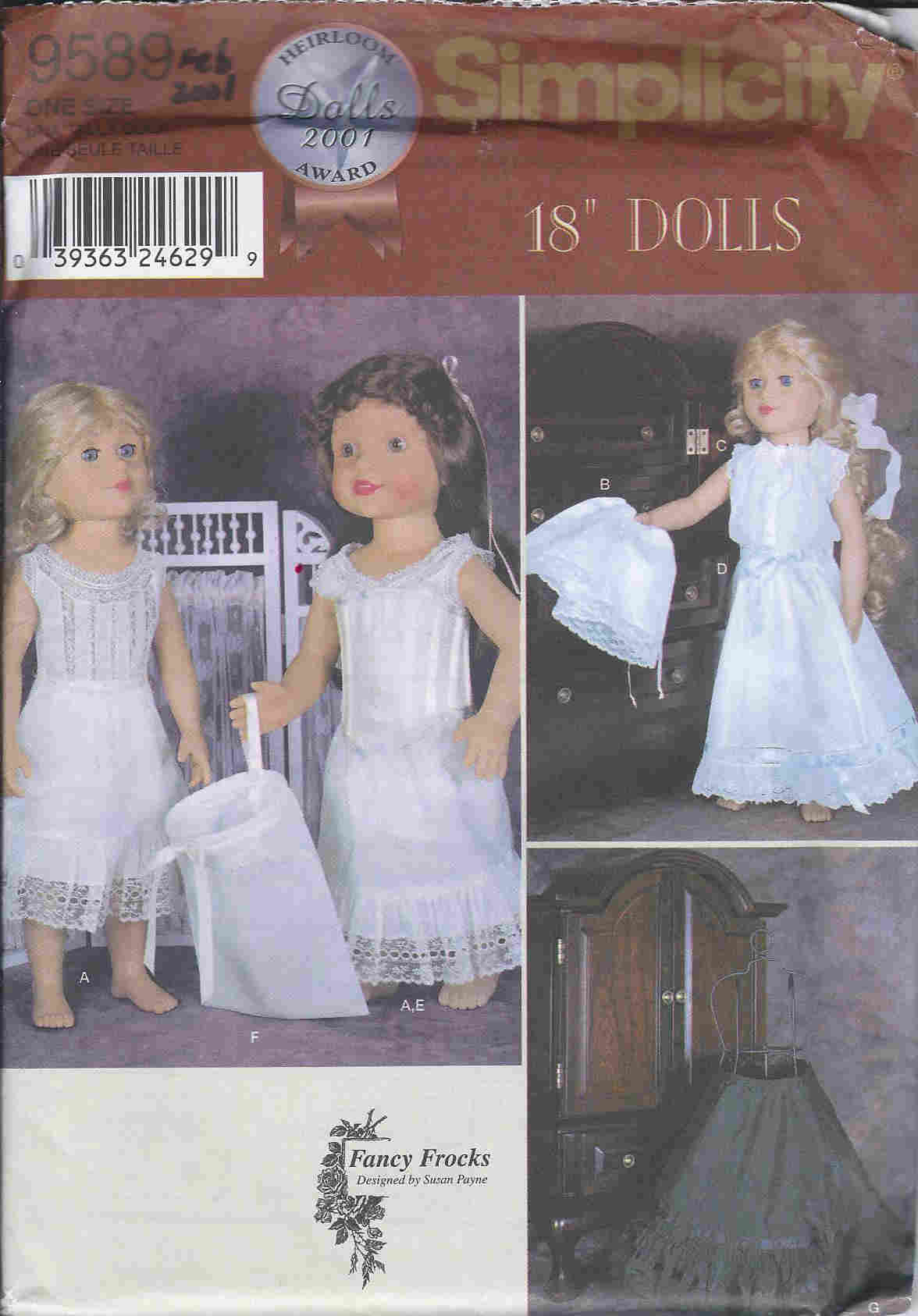 doll clothes corset petticoat sewing pattern