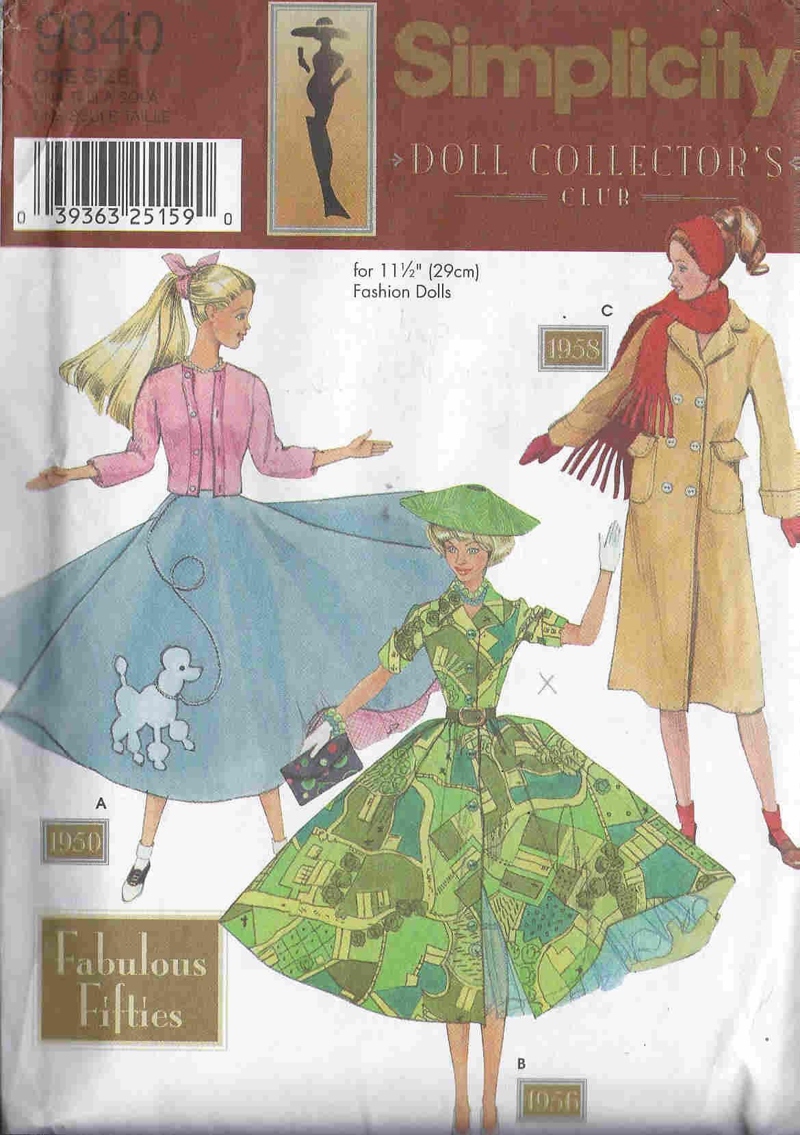 fashion doll dress hat sewing pattern