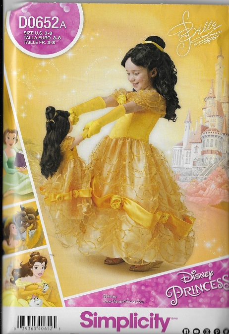 belle beauty beast costume sewing pattern