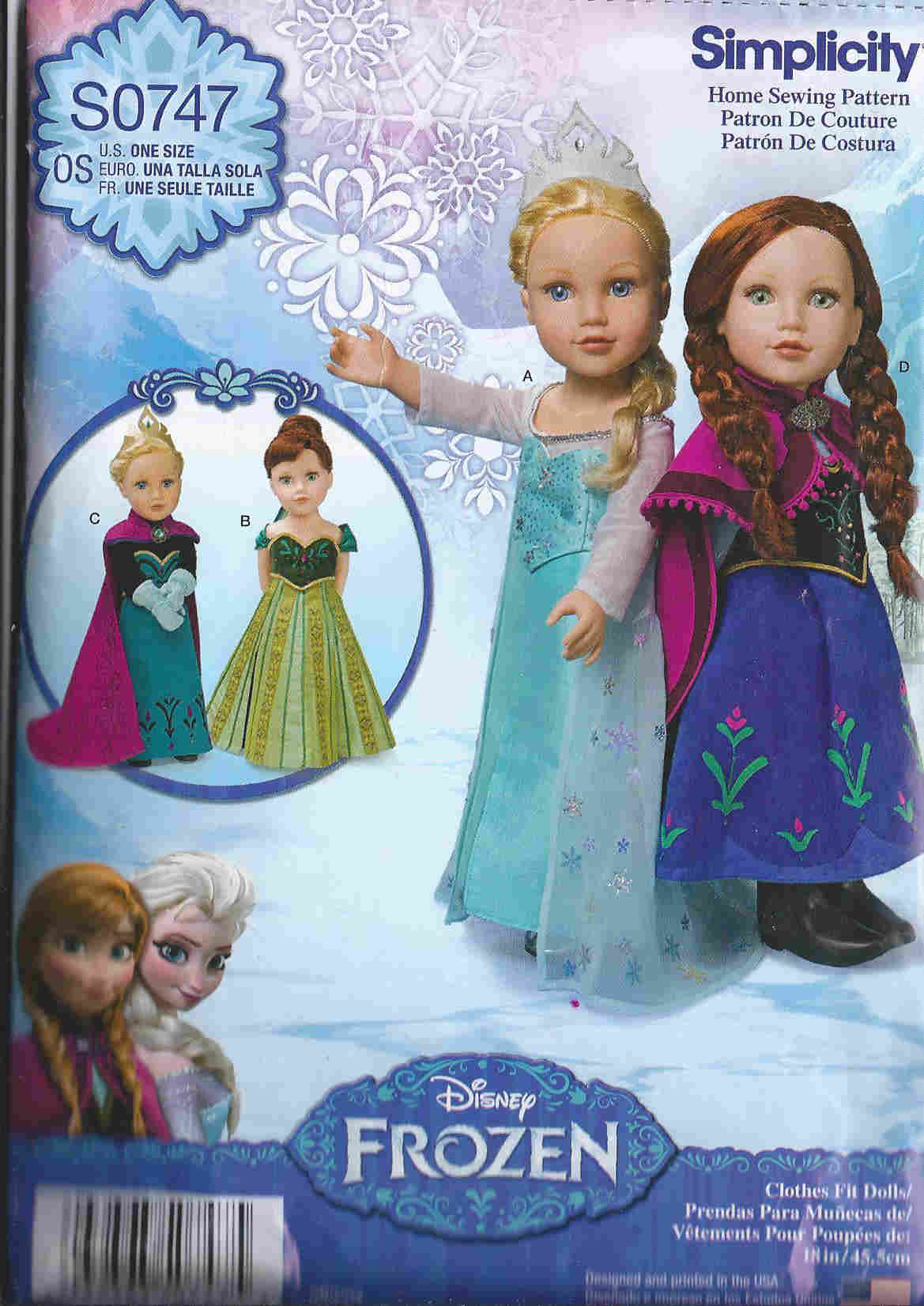 Frozen Disney Costumes sewing pattern