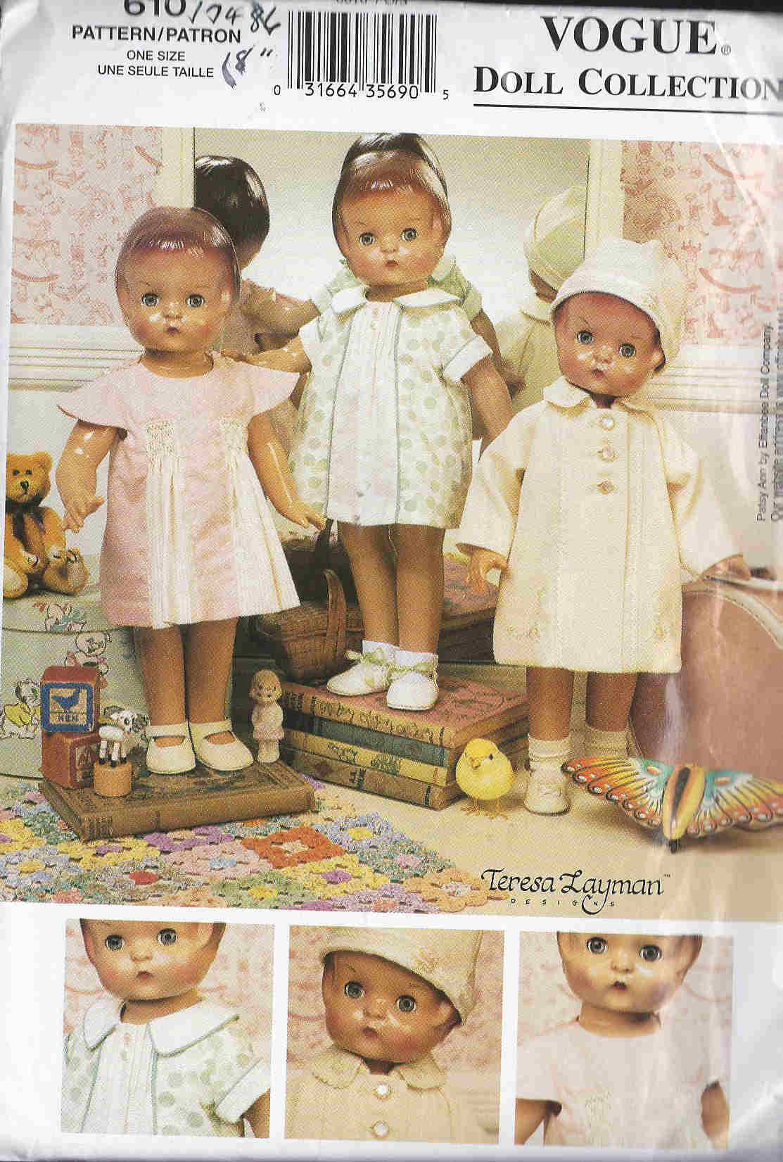 american girl doll1930s Wardrobe sewing pattern