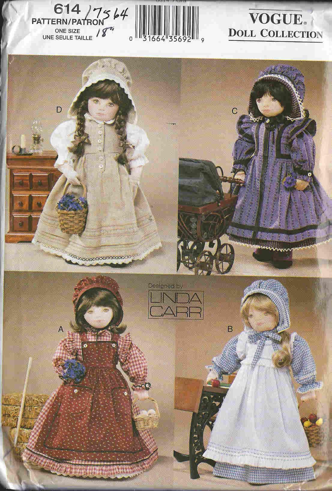 american girl dollPrairie Clothing sewing pattern