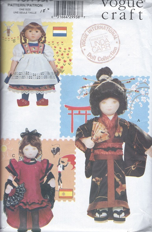 International Costumes american girl doll sewing pattern