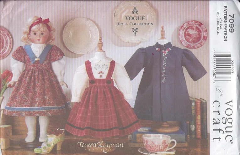 heirloom doll clothes sewing pattern