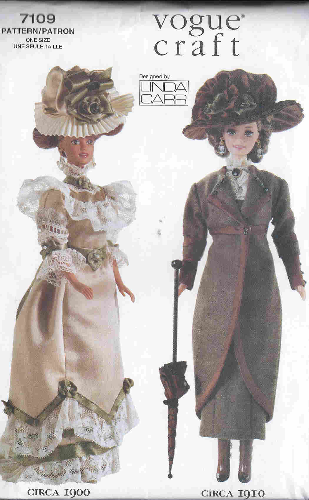 fashion doll dress hat sewing pattern