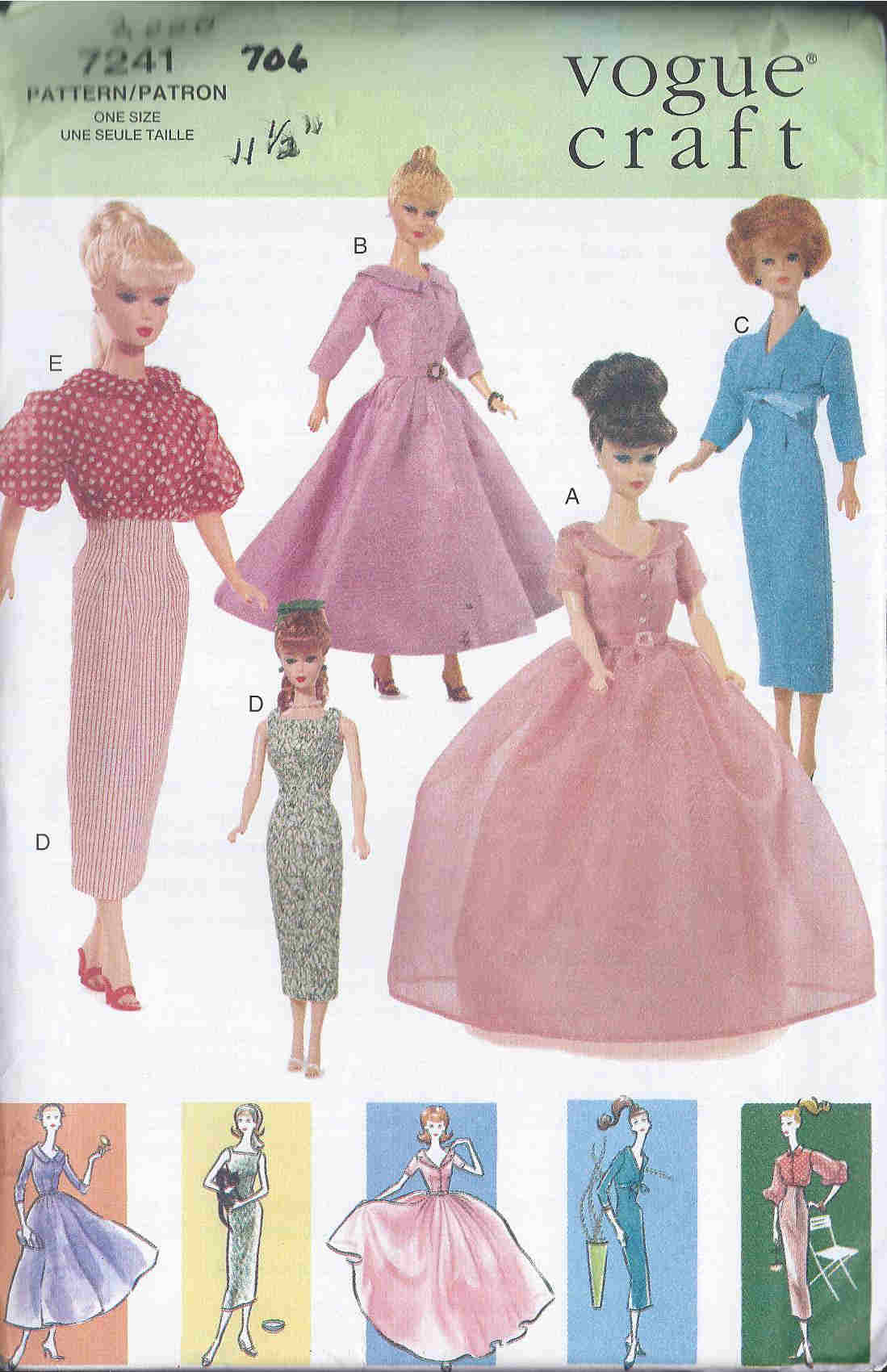 fashion doll dress sewing pattern