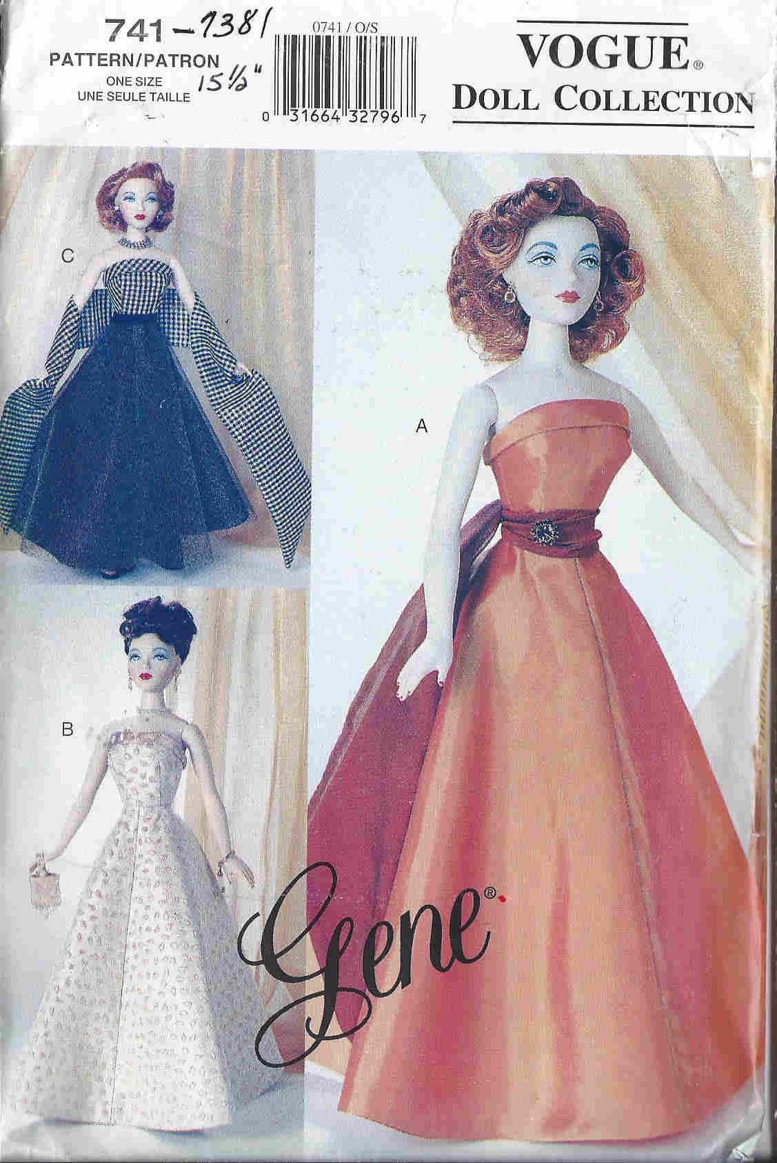 gene fashion doll dress sewing pattern
