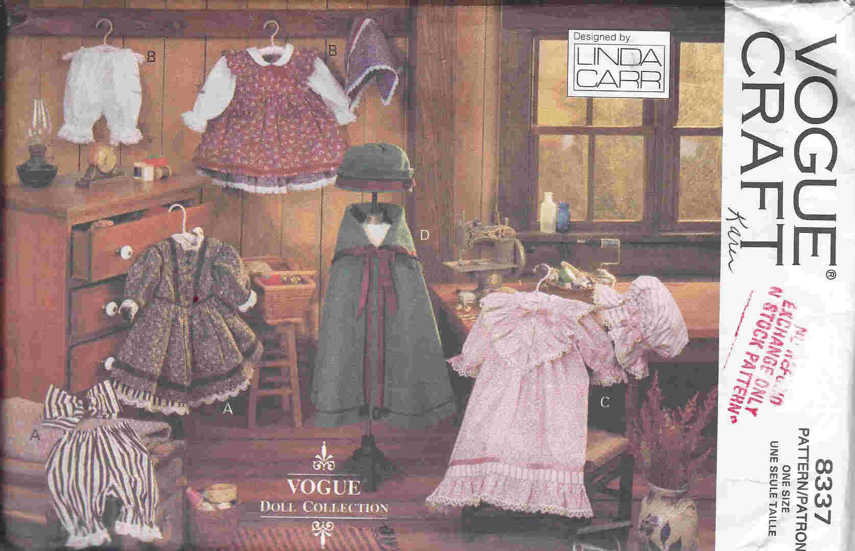 early american doll clothes sewing pattern