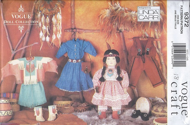 native american doll clothes sewing pattern