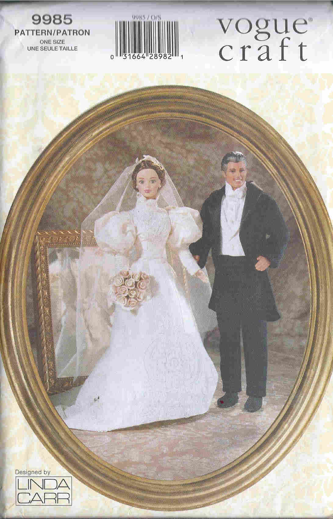 historical bridal fashion sewing pattern