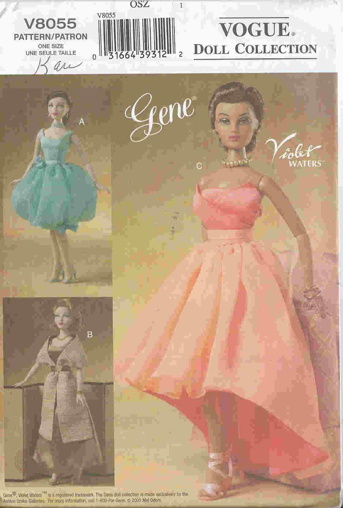 gene fashion doll sewing pattern dress petticoat