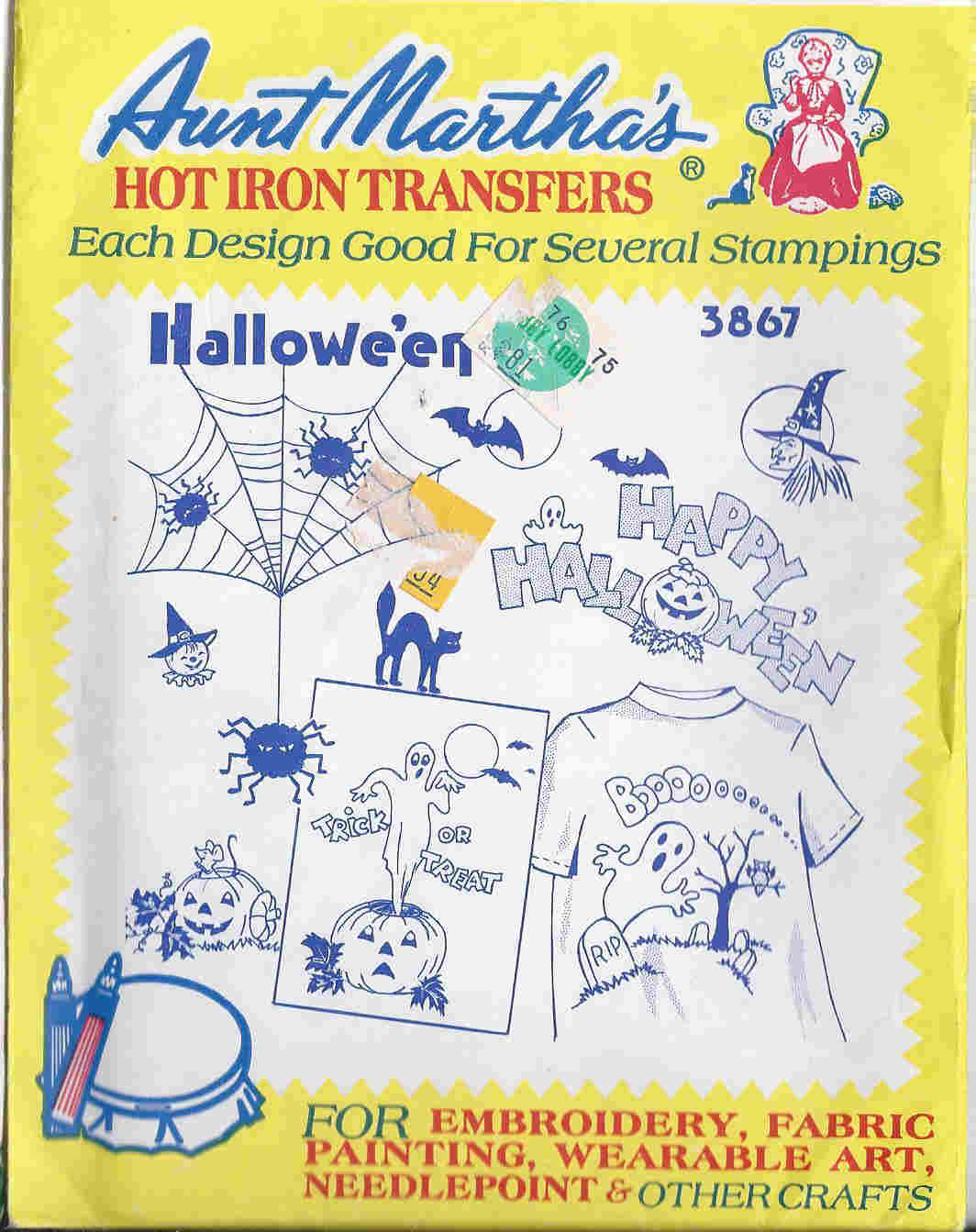 halloween embroidery transfer pattern