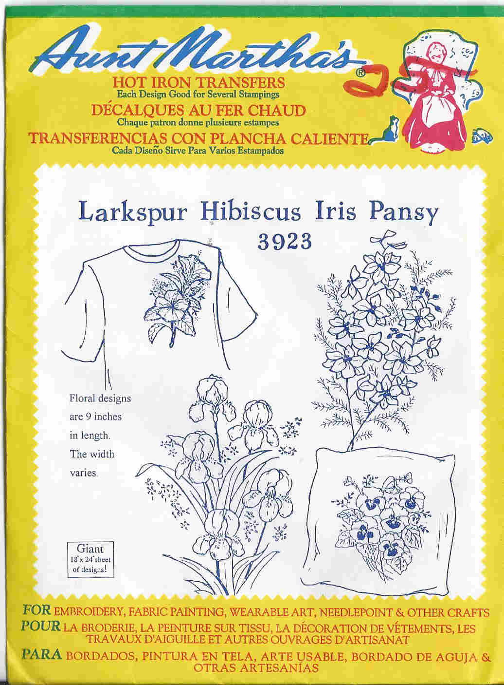 floral embroidery transfer pattern