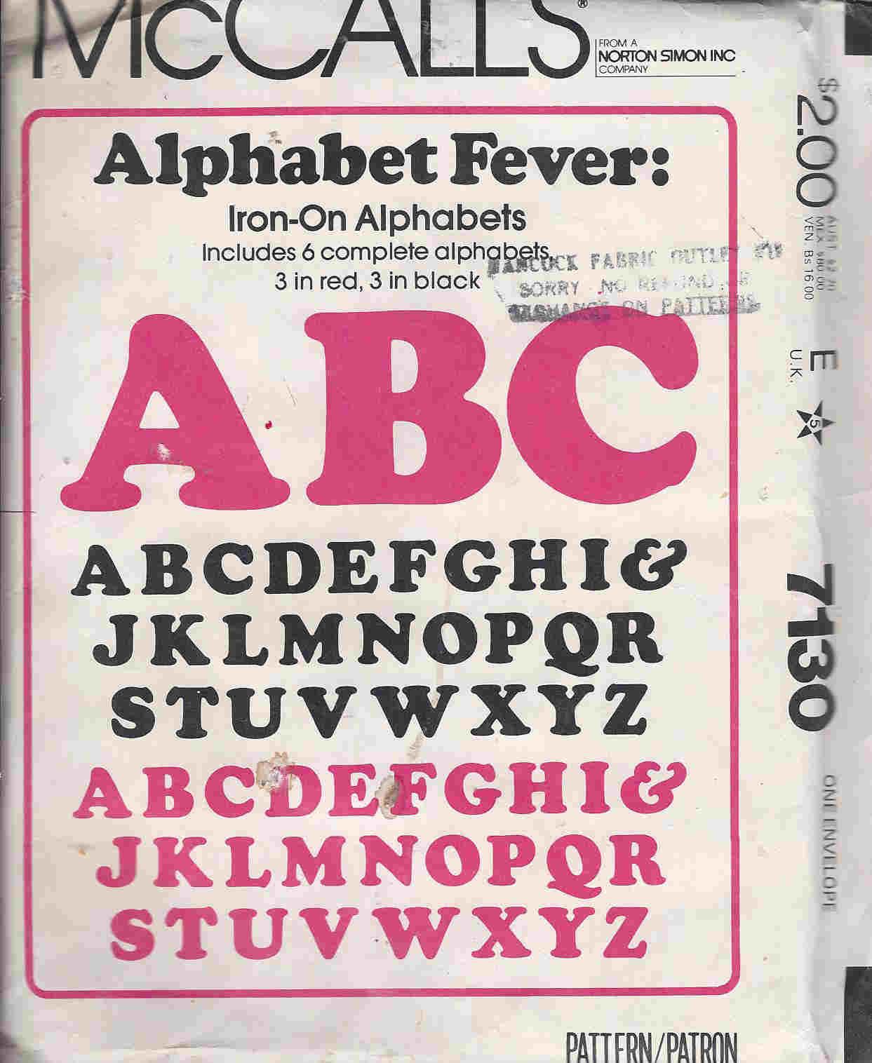 alphabet transfers
