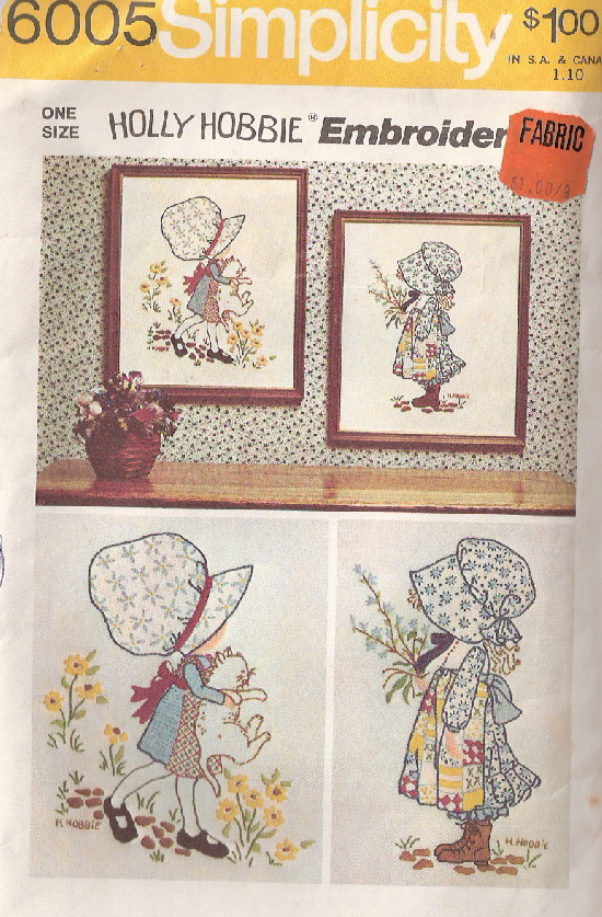 holly hobbie embroidery transfer pattern