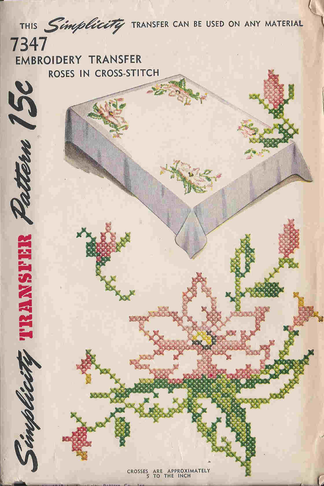 cross stitch embroidery transfer pattern