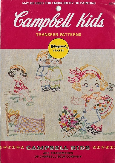 cambell kids embroidery transfer pattern