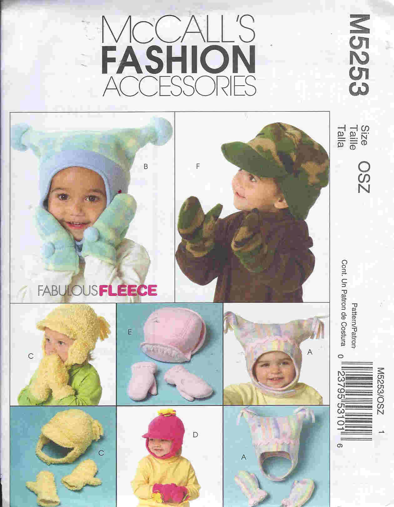 fleece hat mittens sewing patterns