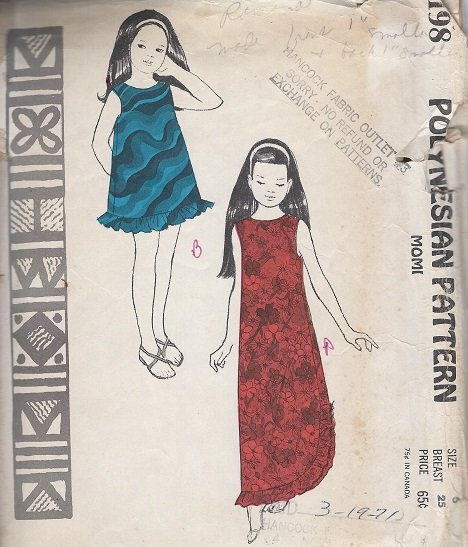 Polynesian momi Sewing Pattern
