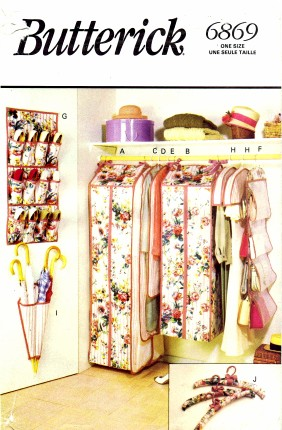 closet organizer sewing pattern
