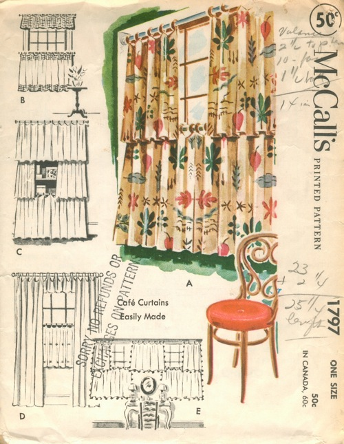 home dec curtains sewing pattern