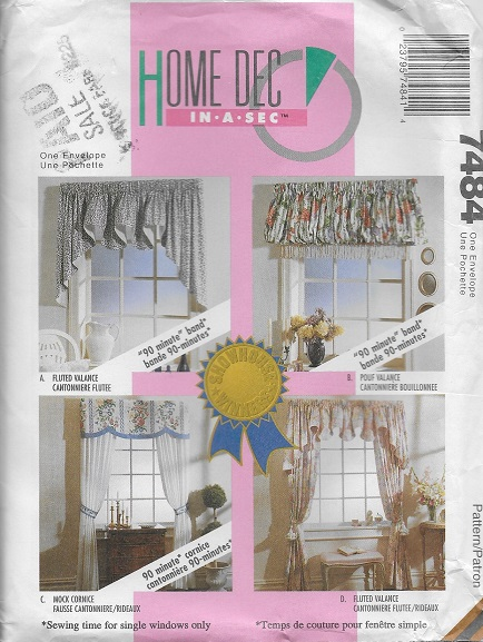 window treatments sewing pattern