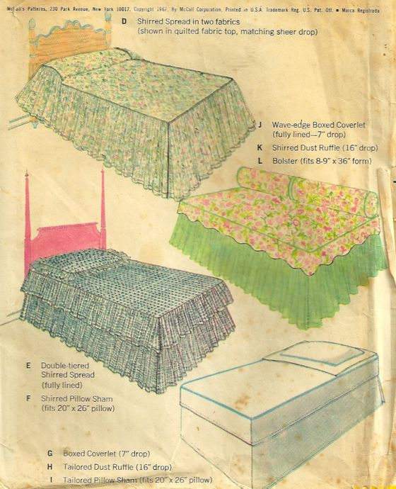 bedcover sewing pattern