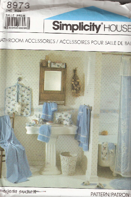 bathroom accessories sewing pattern