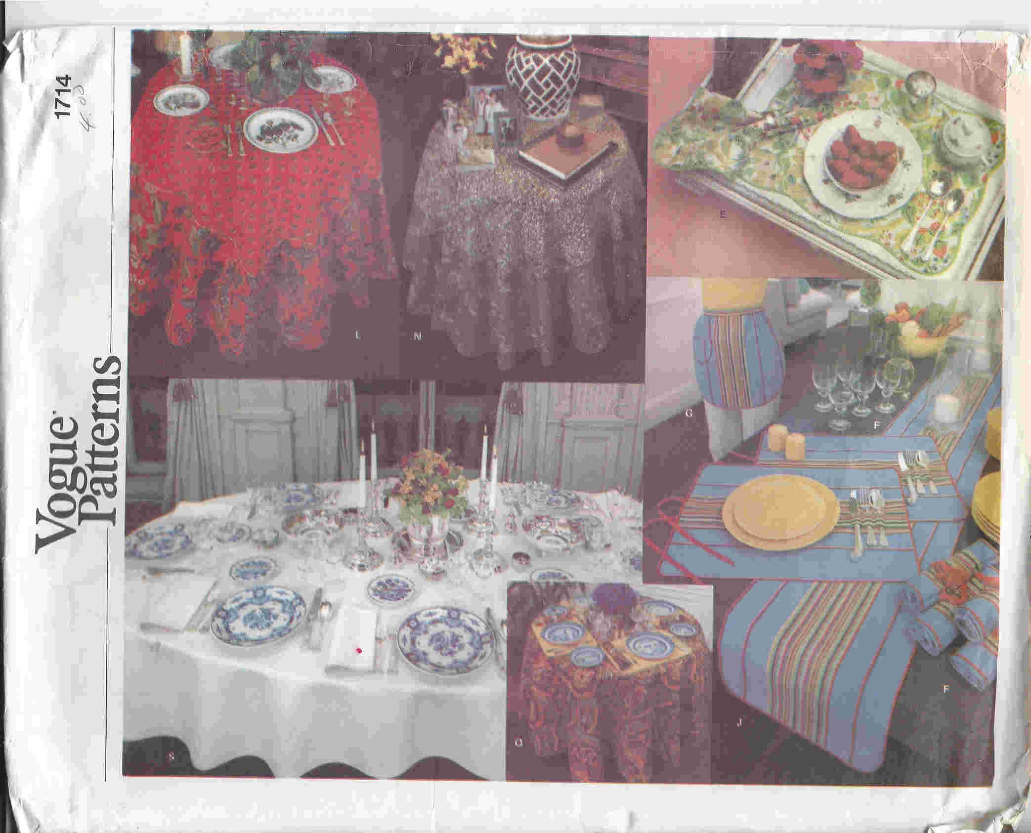 napkin tablecloth sewing pattern