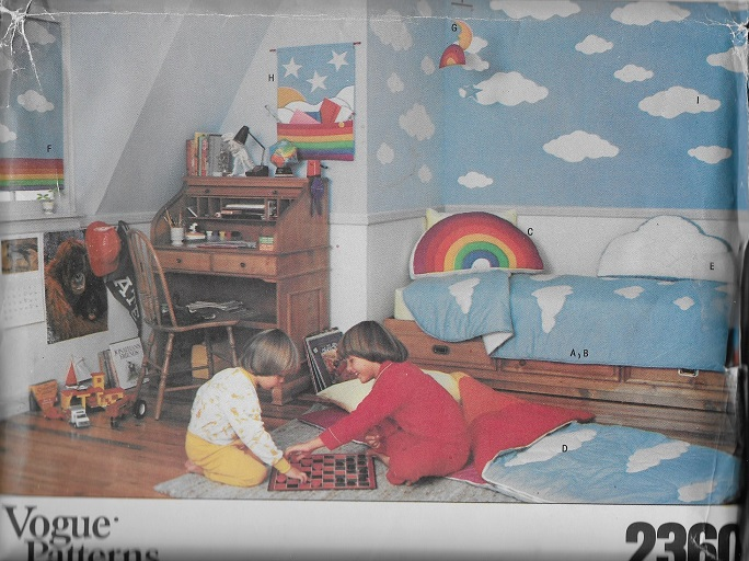 quilt pillows sleeping bag window shade rainbow cloud sewing pattern