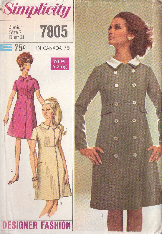 designer fashion coat-dress sewing pattern
