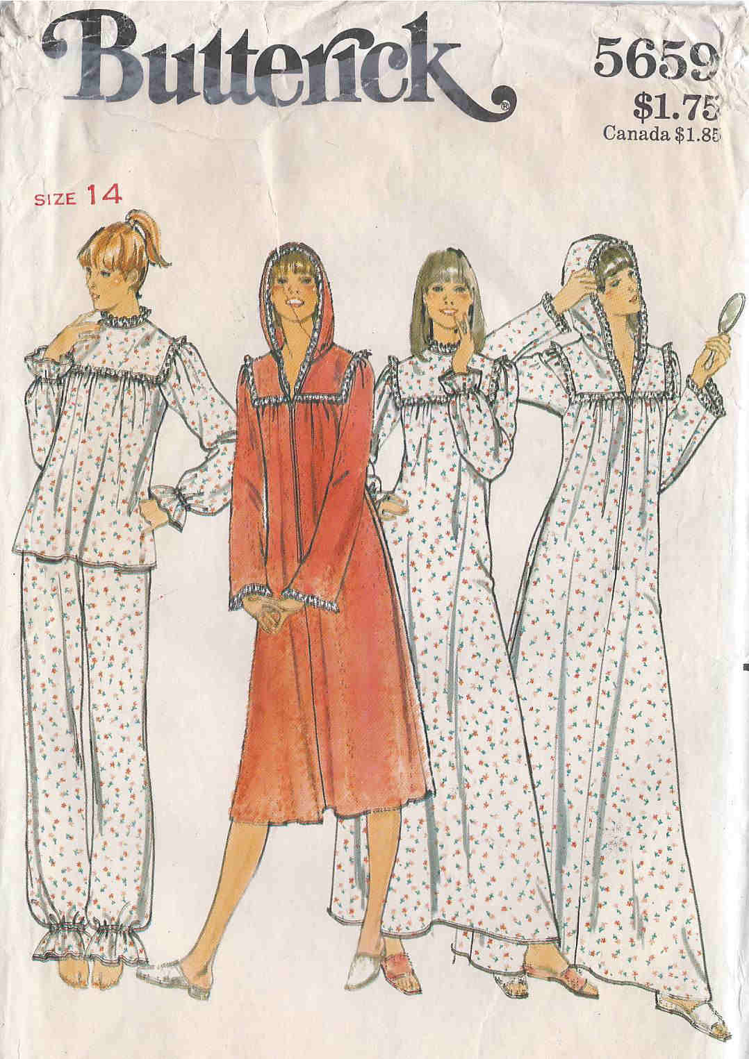 pajamas nightgown robe sewing pattern