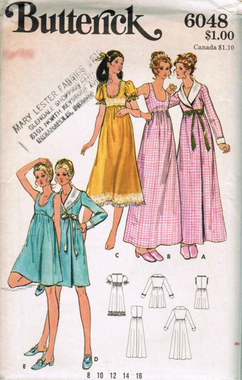 nightgown robe sewing pattern