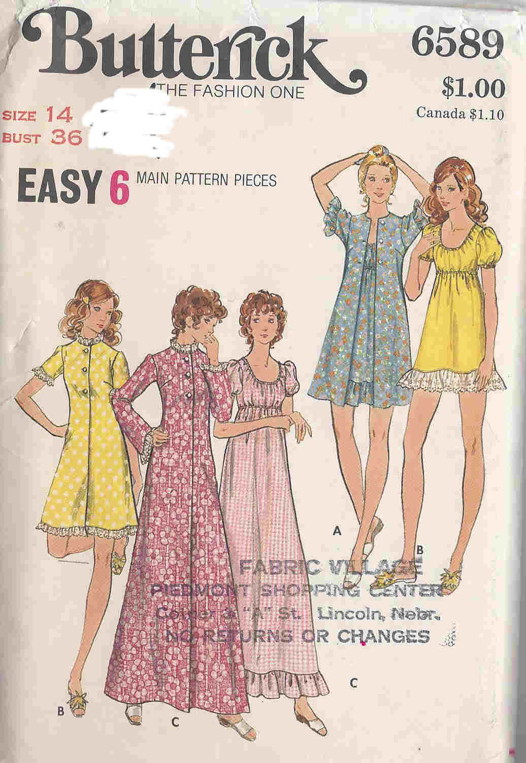 robe nightgown sewing pattern