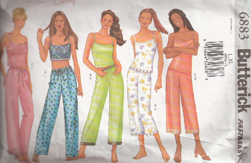camisole pants sewing pattern