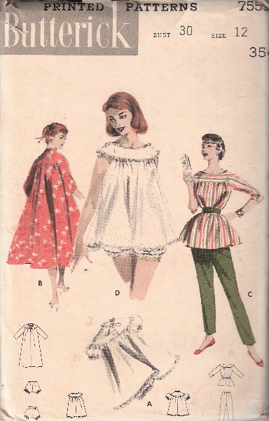 nightie brunch coat loungewear sewing pattern