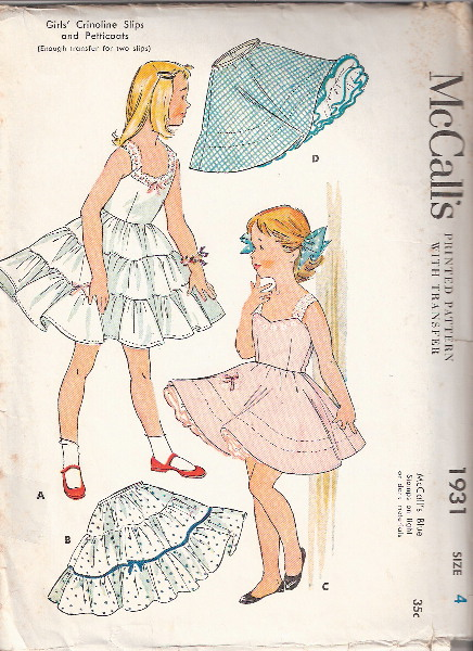 camisole slip petticoat sewing pattern