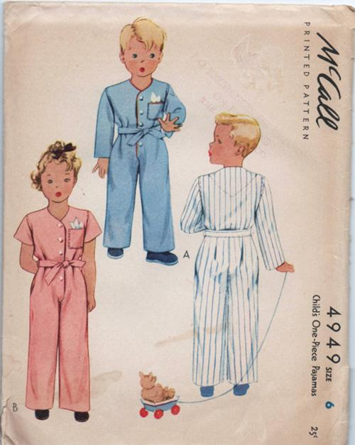 pajamas sewing pattern