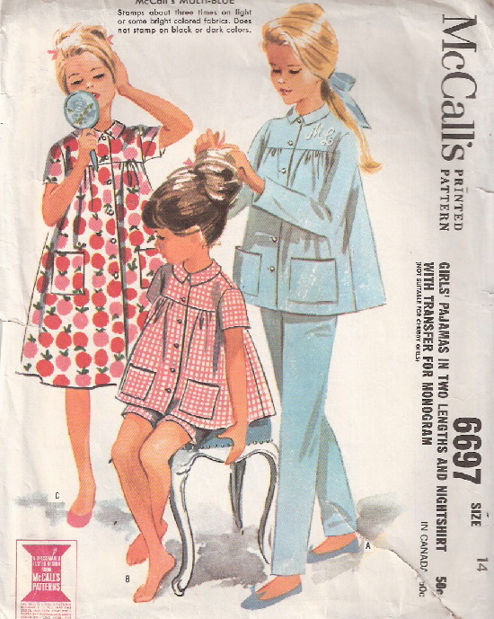 nightshirt pajamas sewing pattern