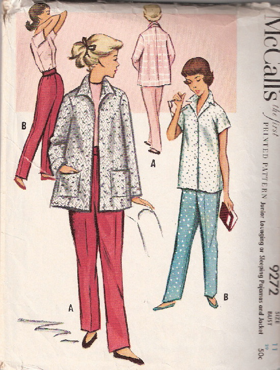 pajamas bedjacket sewing pattern