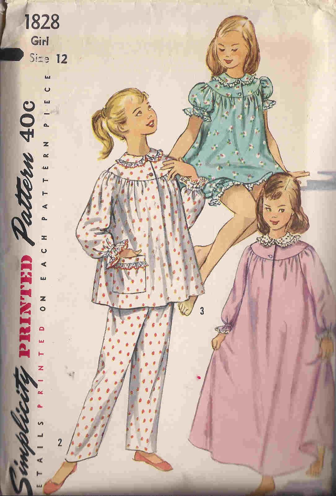 pajamas nightgown panties sewing pattern