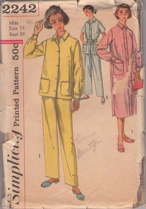 pajamas nightshirt sewing pattern