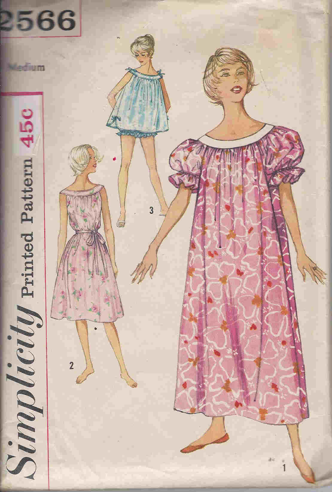 muu muu nightgown panties sewing pattern
