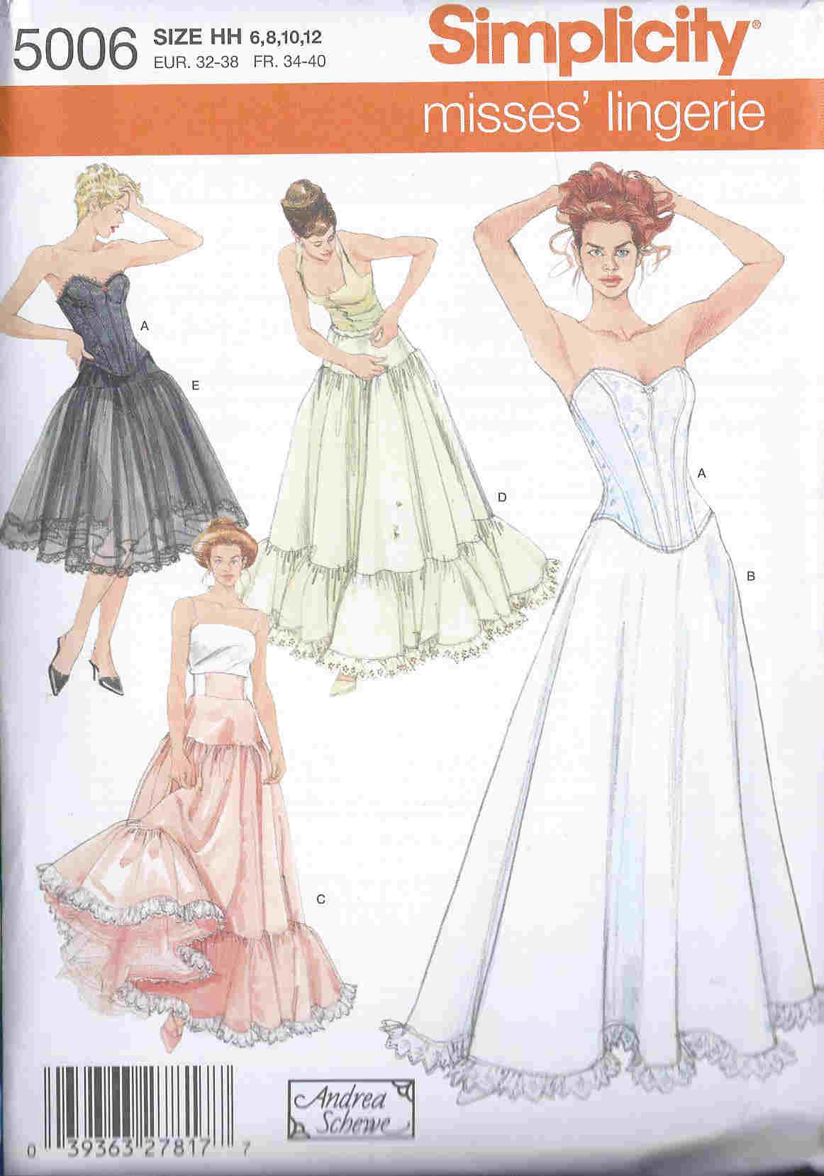 Petticoat sewing pattern