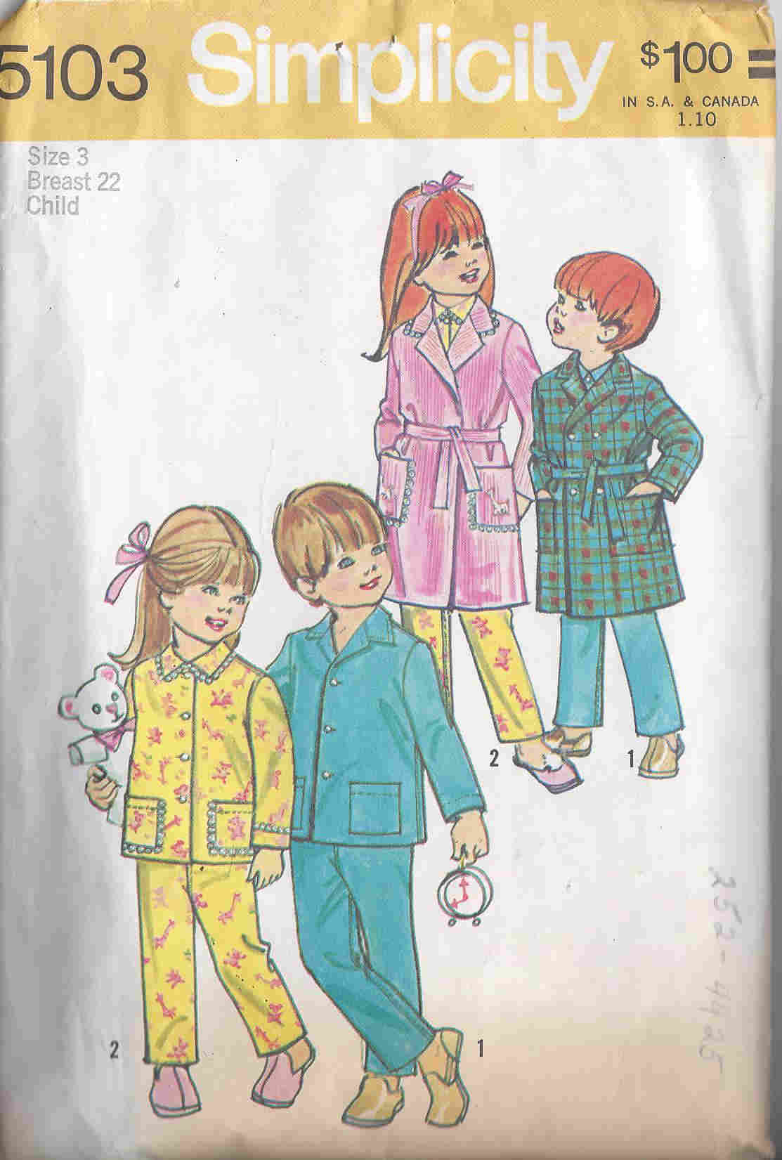 Robe Pajamas sewing pattern