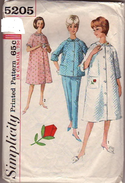 nightgown pants robe sewing pattern